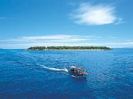 フィジーの海と島